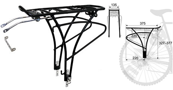 Чертеж багажника для велосипеда